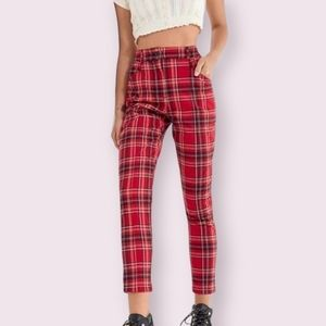 Urban Outffiter Cece Plaid Mom Pants